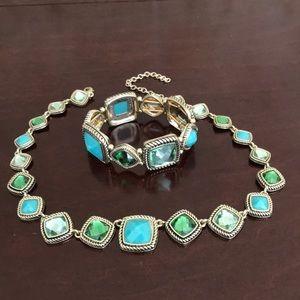 Necklace w/ matching bracelet